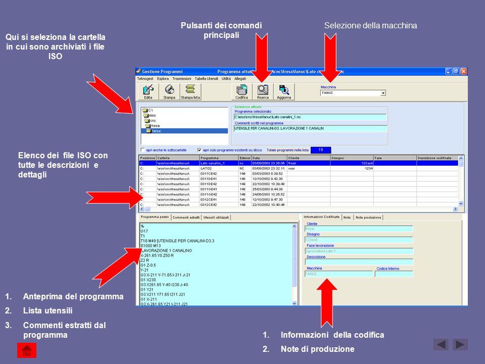 Viene attivato il programma di comparazione che confronta i due file ed evidenzia colorandoli i blocchi di programma che sono cambiati.
