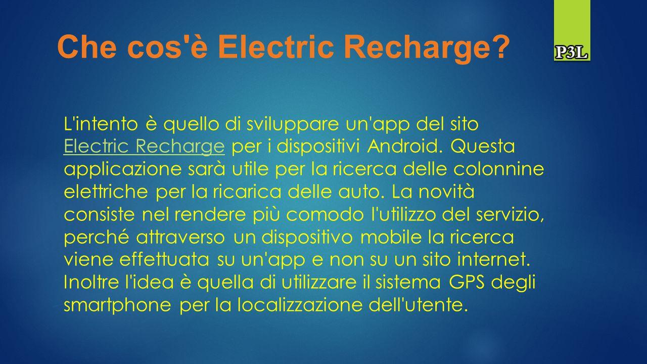 Electric Recharge Daniele Caiazzo: 0124000793 Rosario D Andrea: 0124000663 Simone Starace: 0124000694 Presentazione progetto di Programmazione III e Laboratorio