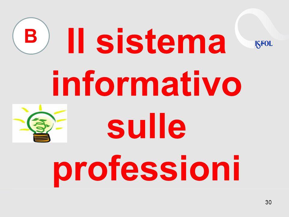 Il sistema informativo sulle professioni 30 B