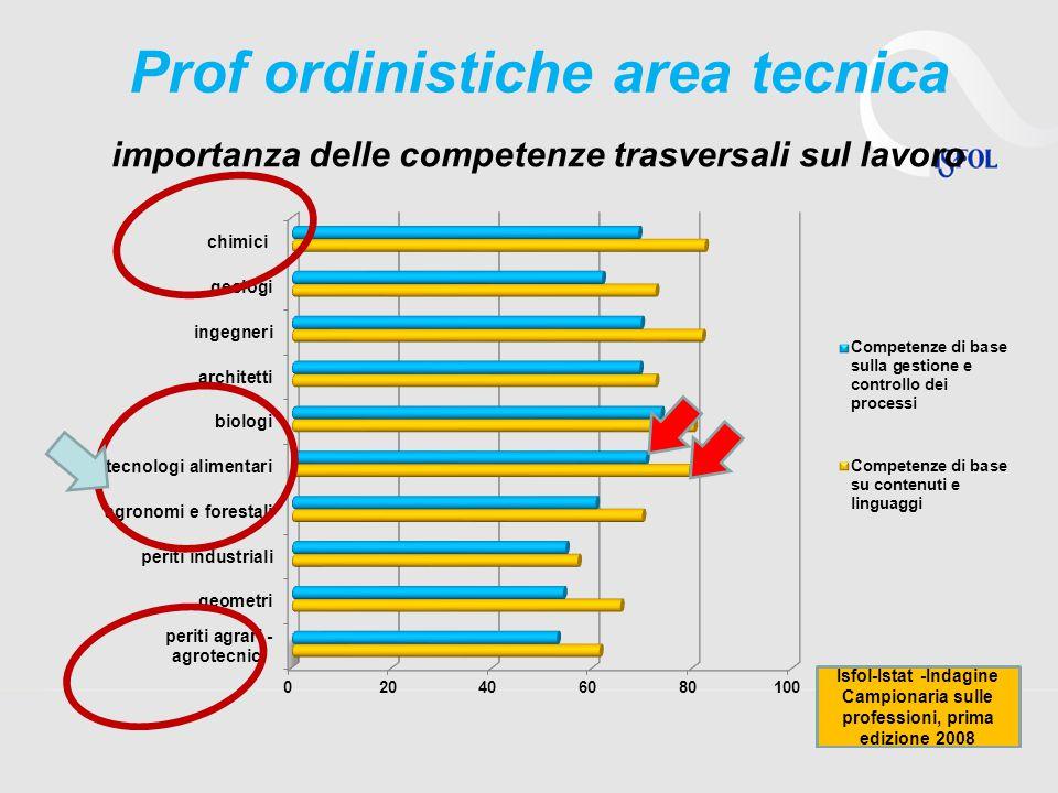 Prof ordinistiche area tecnica importanza delle competenze trasversali sul lavoro