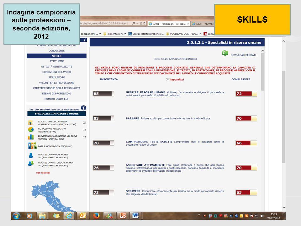 45 Indagine campionaria sulle professioni – seconda edizione, 2012 SKILLS