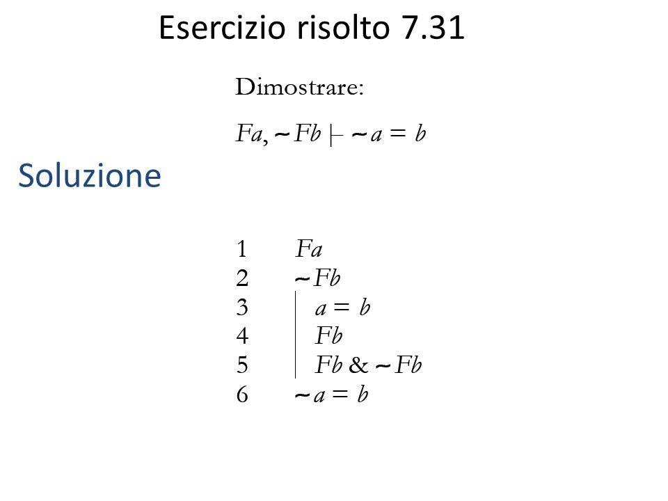 Esercizio risolto 7.31 Soluzione