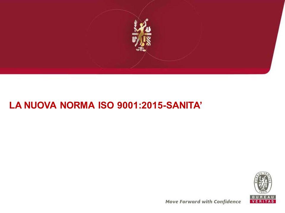 LA NUOVA NORMA ISO 9001:2015-SANITA'
