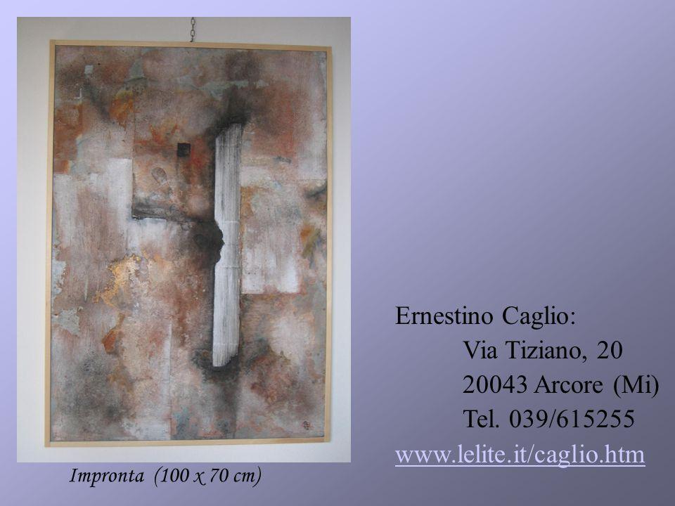 Ernestino Caglio: Via Tiziano, 20 20043 Arcore (Mi) Tel.