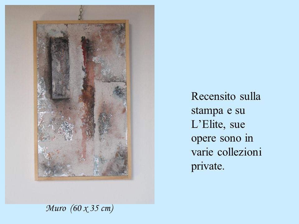 Recensito sulla stampa e su L'Elite, sue opere sono in varie collezioni private. Muro (60 x 35 cm)