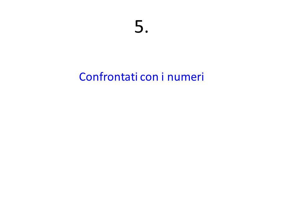 5. Confrontati con i numeri