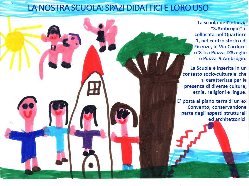 """La scuola dell'infanzia """"S.Ambrogio"""" è collocata nel Quartiere 1, nel centro storico di Firenze, in Via Carducci n°8 tra Piazza D'Azeglio e Piazza S.A"""