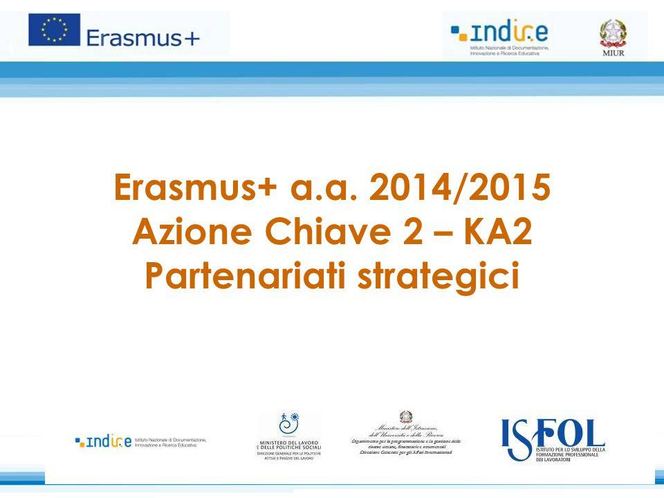 Erasmus+ a.a. 2014/2015 Azione Chiave 2 – KA2 Partenariati strategici