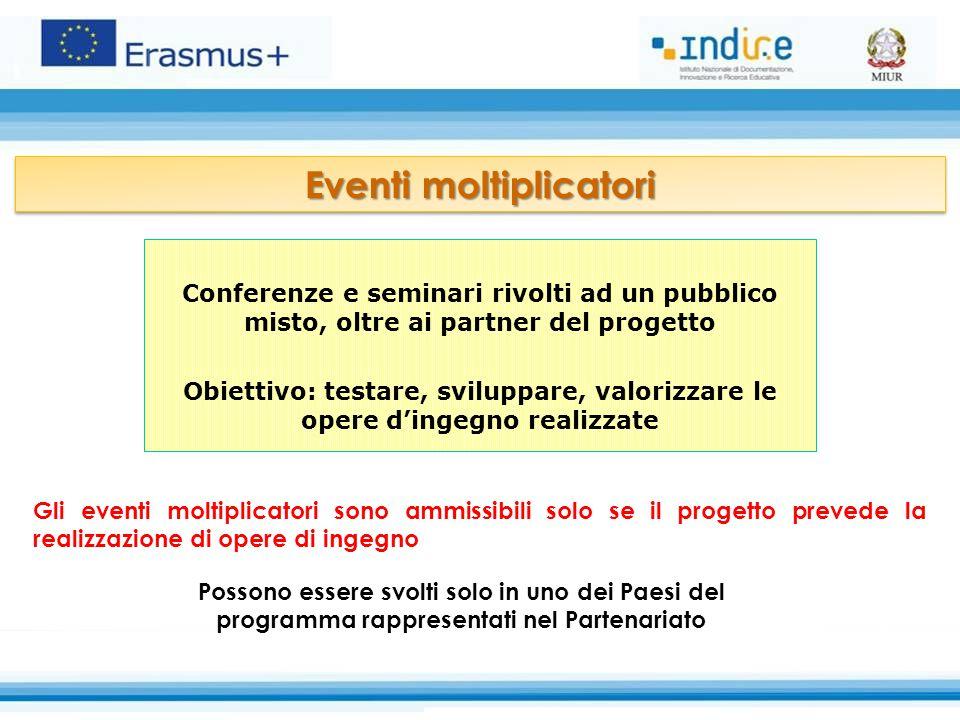 Conferenze e seminari rivolti ad un pubblico misto, oltre ai partner del progetto Obiettivo: testare, sviluppare, valorizzare le opere d'ingegno reali