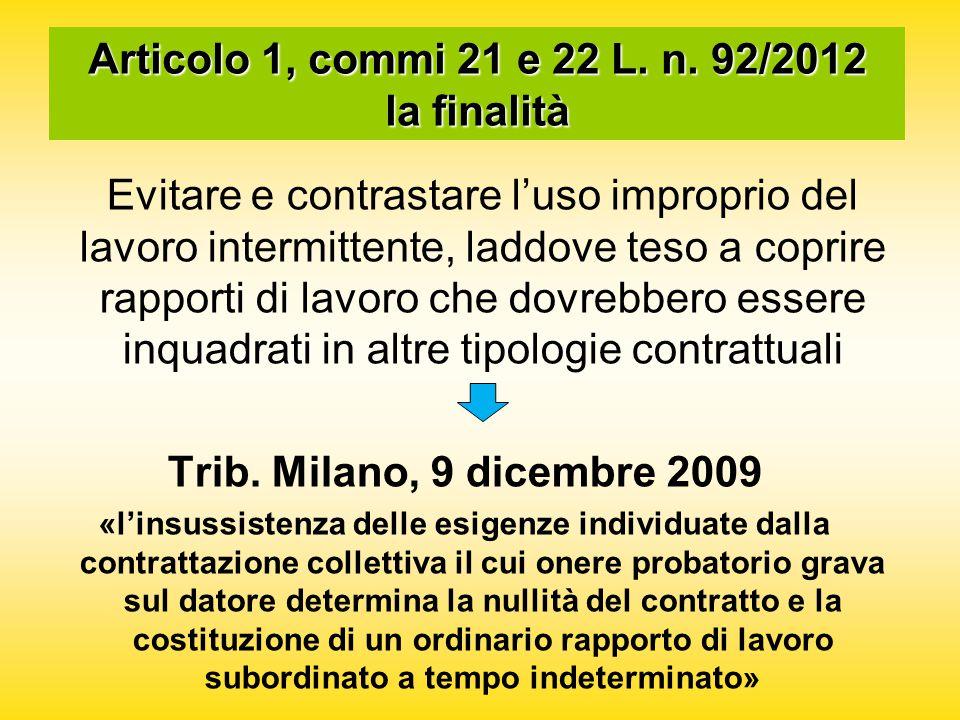 Articolo 1, commi 21 e 22 L. n.