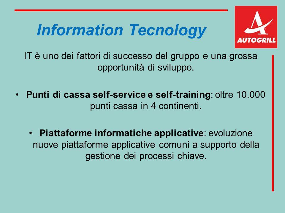 Information Tecnology IT è uno dei fattori di successo del gruppo e una grossa opportunità di sviluppo. Punti di cassa self-service e self-training: o
