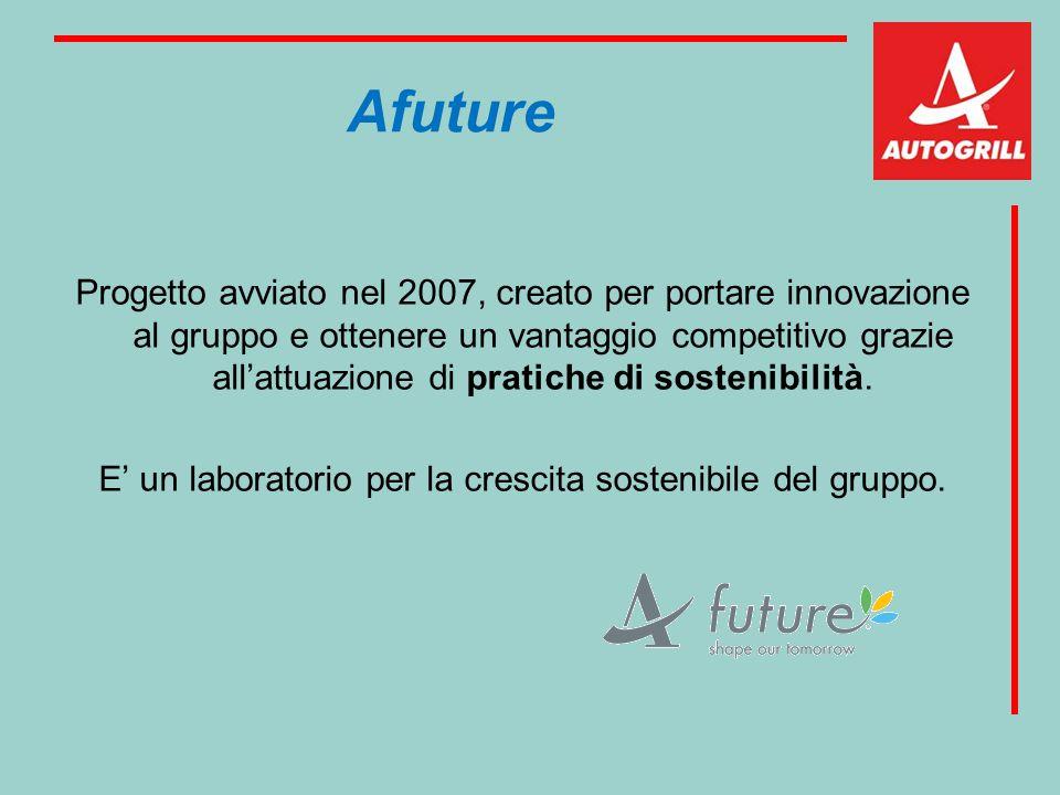 Afuture Progetto avviato nel 2007, creato per portare innovazione al gruppo e ottenere un vantaggio competitivo grazie all'attuazione di pratiche di s