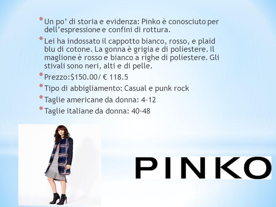 * Un po' di storia e evidenza: Pinko è conosciuto per dell'espressione e confini di rottura. * Lei ha indossato il cappotto bianco, rosso, e plaid blu