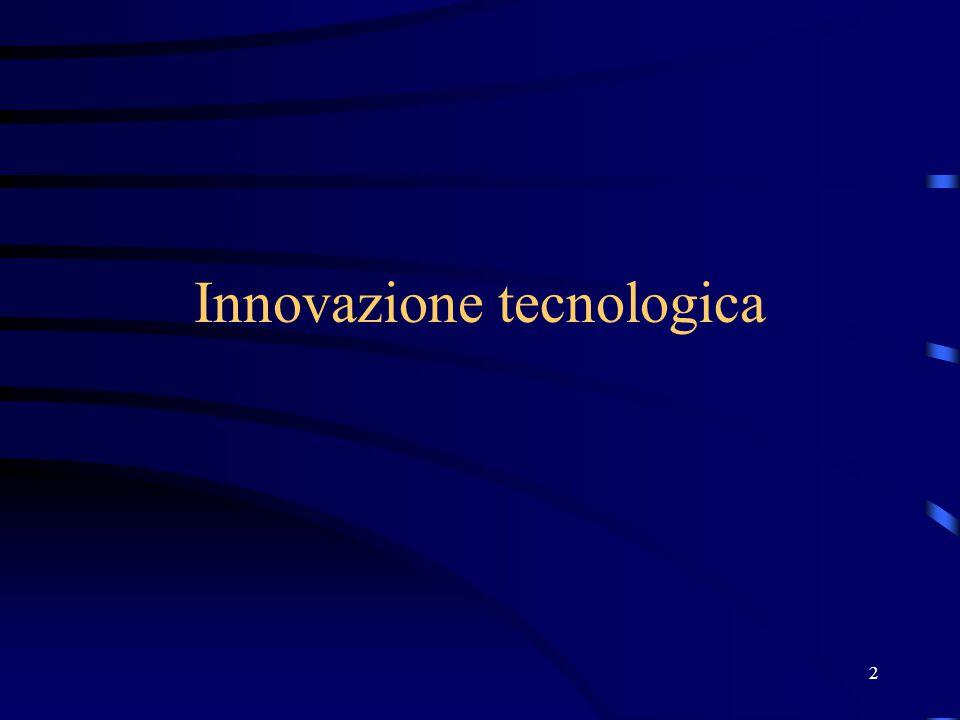13 Capacità innovativa e dimensione dell'impresa Possibili condizioni di vantaggio della grande rispetto alla piccola impresa: barriere finanziarie all'innovazione diversificazione del rischio protezione dell'innovazione
