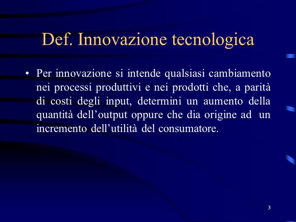 14 Capacità innovativa e dimensione dell'impresa Possibili svantaggi: le grandi imprese operano ricorrendo a strutture burocratiche e, quindi, sono soggette a ritardi e lentezze procedurali nella definizione dei progetti e nello sfruttamento di opportunità tecnologiche impreviste.