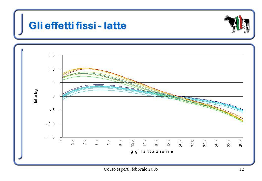 Corso esperti, febbraio 200512 Gli effetti fissi - latte