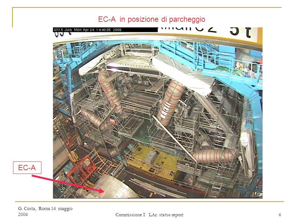 G. Costa, Roma 16 maggio 2006 Commissione I LAr: status report 6 EC-A in posizione di parcheggio EC-A