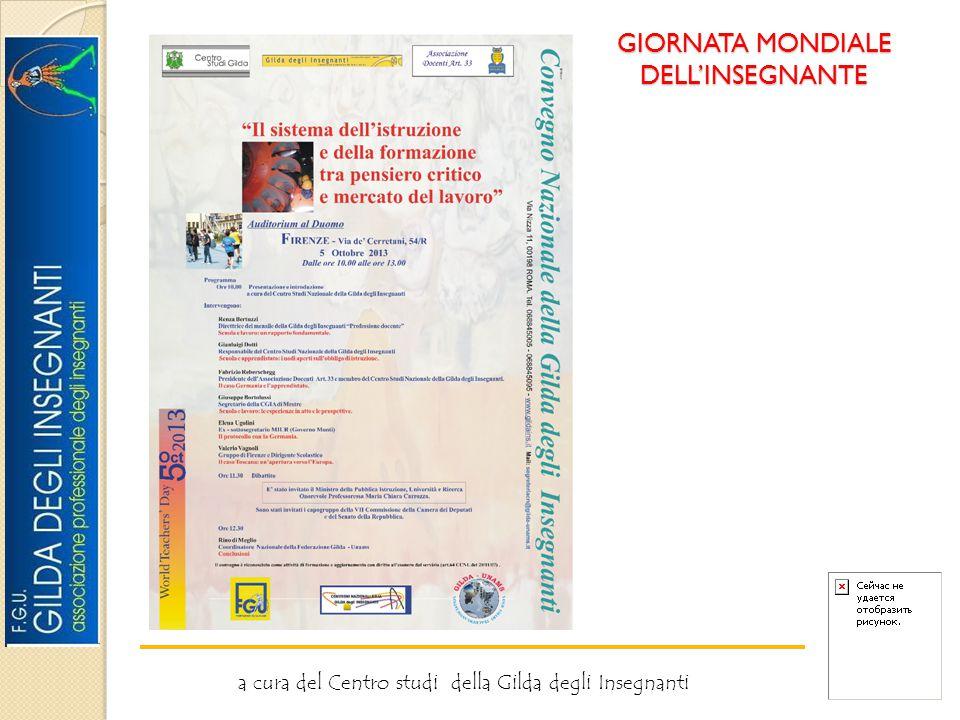 GIORNATA MONDIALE DELL'INSEGNANTE a cura del Centro studi della Gilda degli Insegnanti