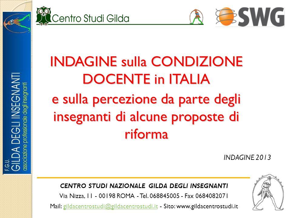 CENTRO STUDI NAZIONALE GILDA DEGLI INSEGNANTI Via Nizza, 11 - 00198 ROMA - Tel.