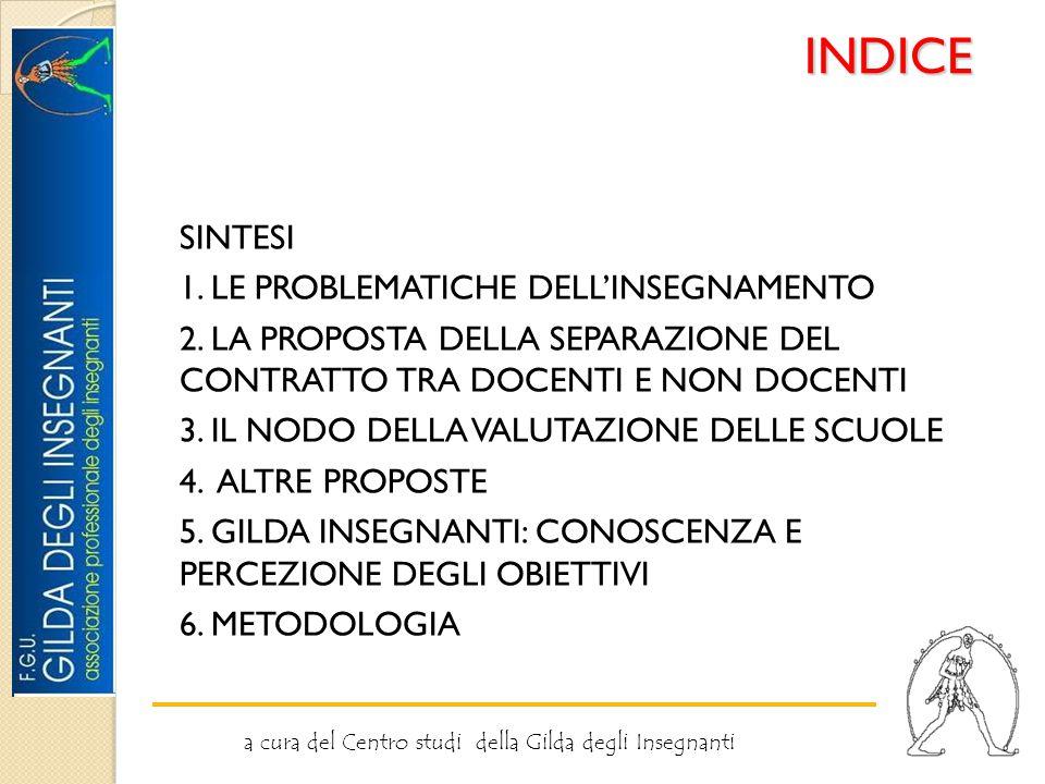 INDICE SINTESI 1. LE PROBLEMATICHE DELL'INSEGNAMENTO 2.