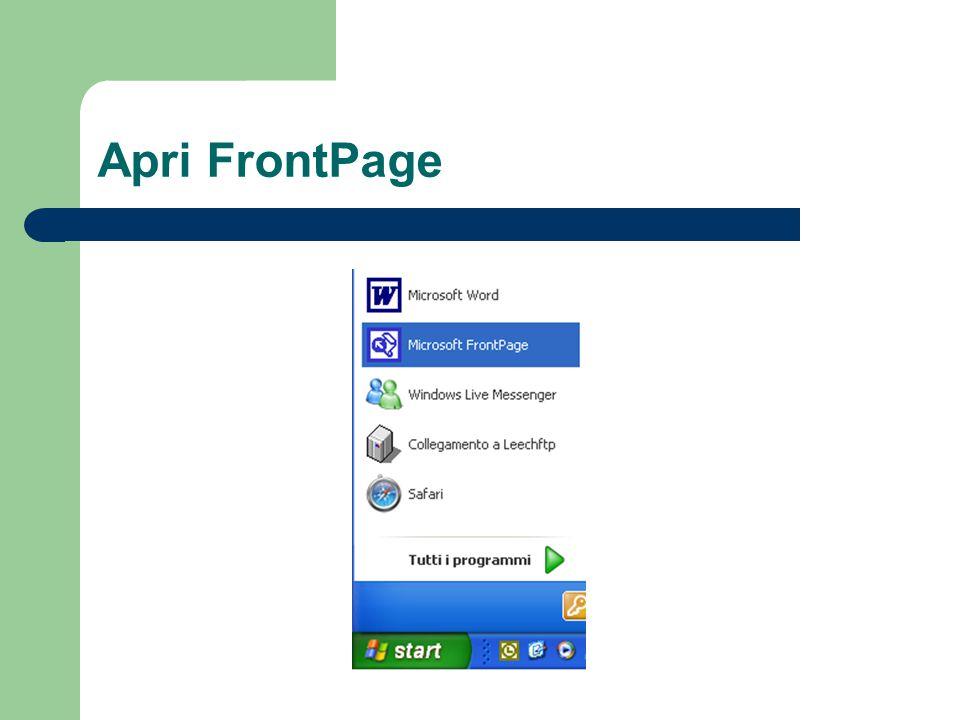 Apri FrontPage