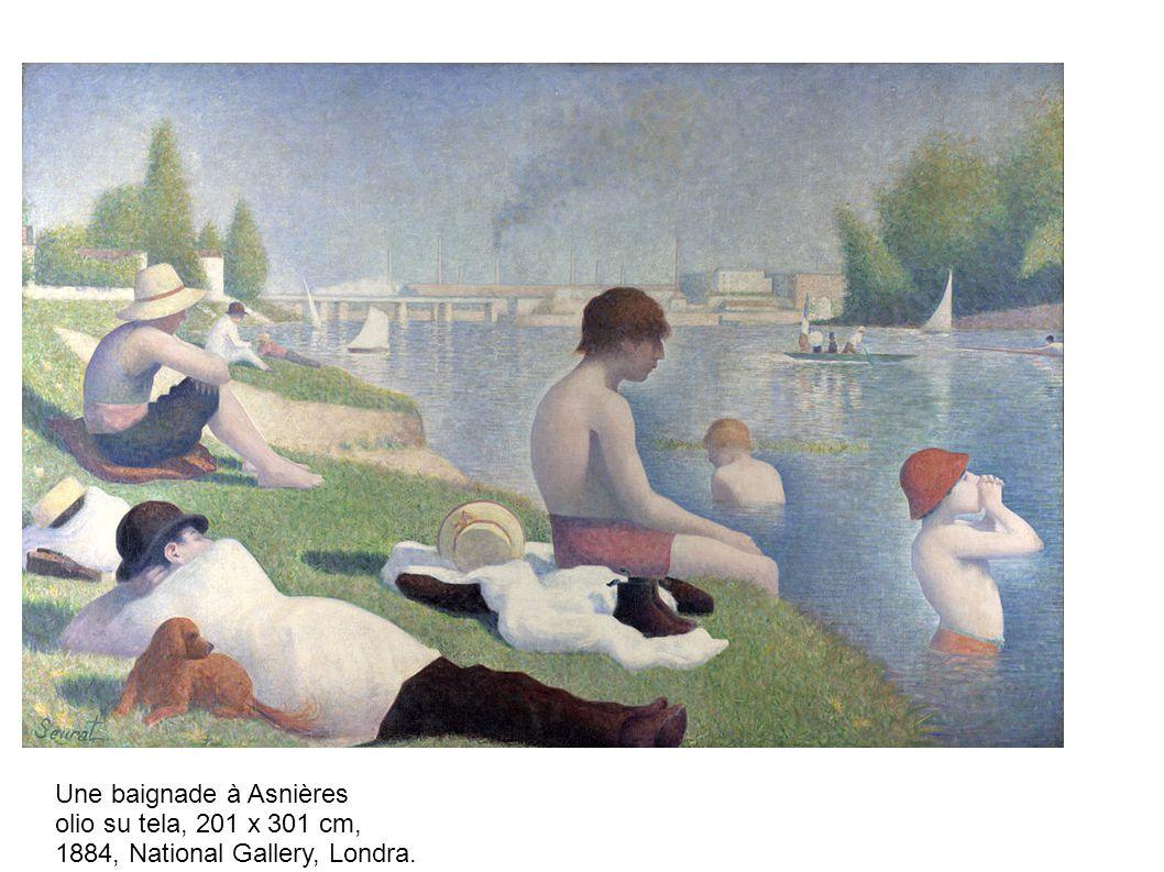 Une baignade à Asnières olio su tela, 201 x 301 cm, 1884, National Gallery, Londra.