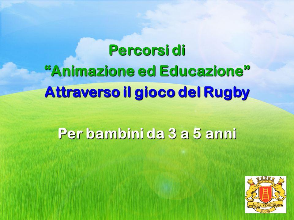 """Percorsi di """"Animazione ed Educazione"""" Attraverso il gioco del Rugby Per bambini da 3 a 5 anni"""