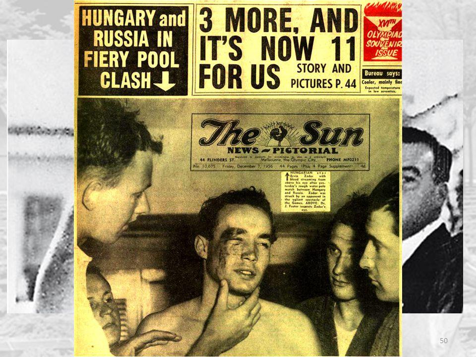 """Le due crisi del 1956 50 Dopo molte discussioni interne, il governo sovietico decide l'intervento militare per """"ristabilire l'ordine"""" Scontri durissim"""