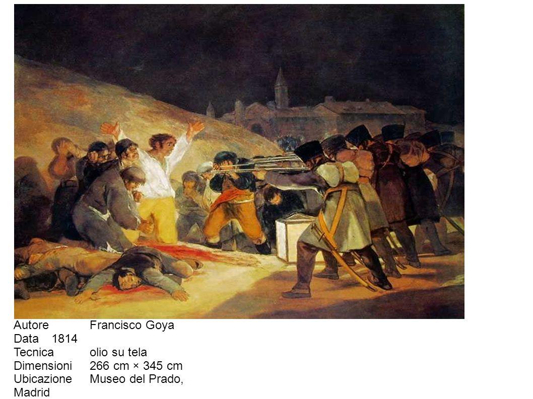 Autore Francisco Goya Data 1814 Tecnica olio su tela Dimensioni 266 cm × 345 cm Ubicazione Museo del Prado, Madrid