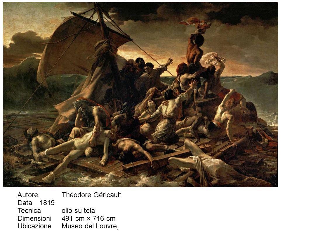 Autore Théodore Géricault Data 1819 Tecnica olio su tela Dimensioni 491 cm × 716 cm Ubicazione Museo del Louvre, Parigi