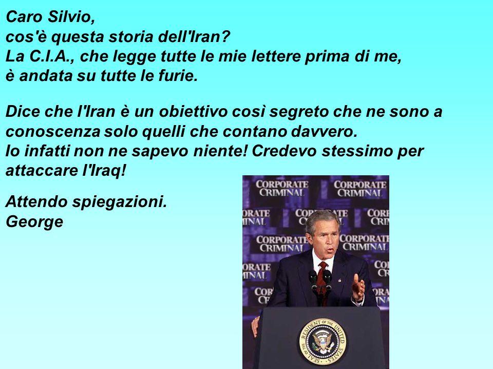 Caro Silvio, cos è questa storia dell Iran.