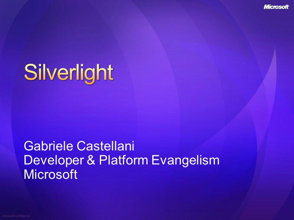 Microsoft Confidential Gabriele Castellani Developer & Platform Evangelism Microsoft