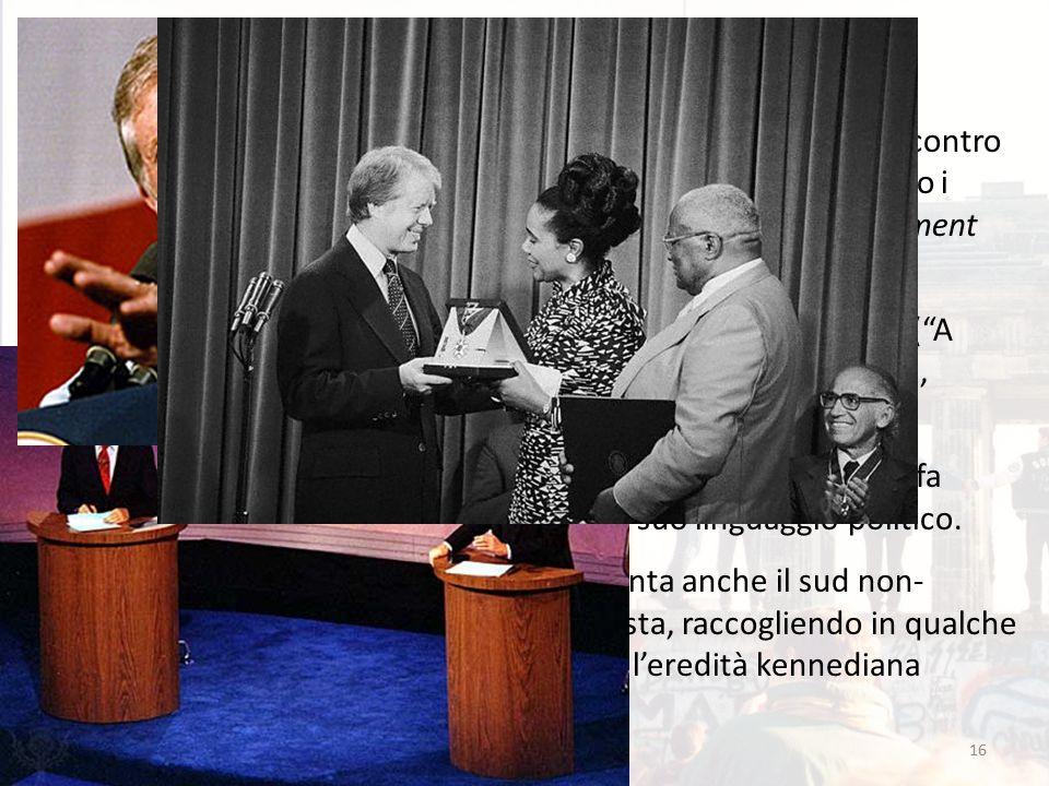 """16 Il """"fenomeno"""" Carter Carter rappresenta una vittoria """"contro l'establishment"""" dei partiti, contro i politici di lungo corso (l'establishment non gl"""