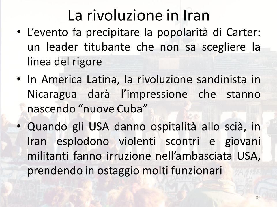 La rivoluzione in Iran L'evento fa precipitare la popolarità di Carter: un leader titubante che non sa scegliere la linea del rigore In America Latina