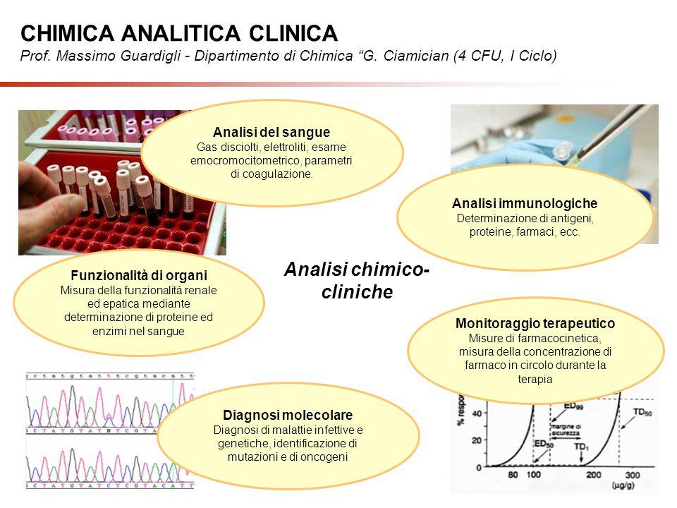 Analisi chimico- cliniche Funzionalità di organi Misura della funzionalità renale ed epatica mediante determinazione di proteine ed enzimi nel sangue