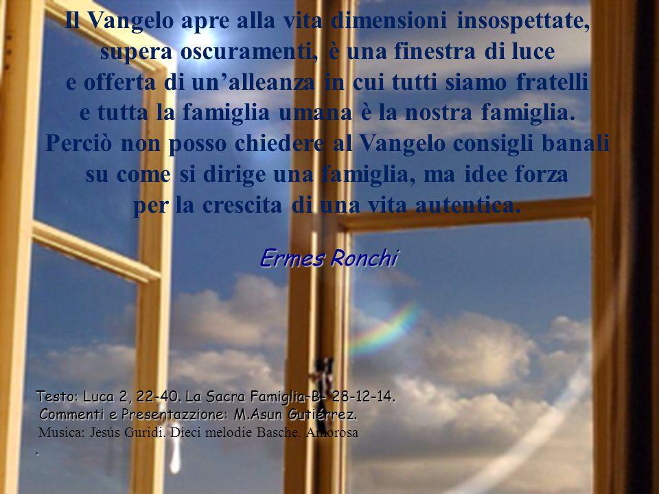 Testo: Luca 2, 22-40.La Sacra Famiglia–B- 28-12-14.
