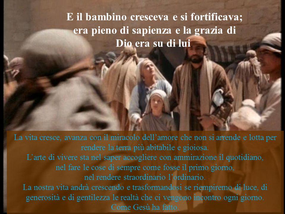 Com'ebbero adempiuto tutte le prescrizioni della legge del Signore, tornarono in Galilea, a Nazaret, loro città. Giuseppe e Maria sono i testimoni del