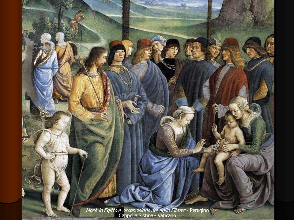 Mosè in Egitto e circoncisione del figlio Eliezer - Perugino Cappella Sistina - Vaticano