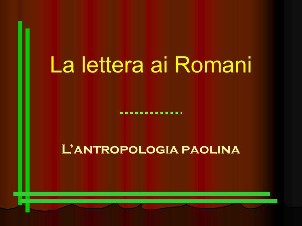 La lettera ai Romani L'antropologia paolina