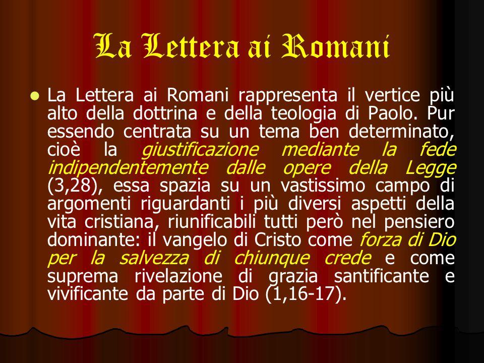 La Lettera ai Romani Questa continua morte al peccato, ottenuta frenando le voglie della carne, sarà come un continuo sacrificio vivente, santo, bene accetto a Dio, il vero culto spirituale voluto dal Signore (12,1).