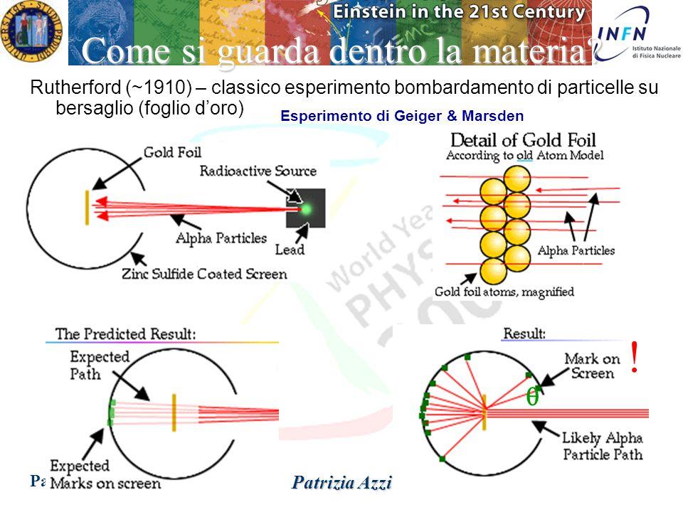 Padova 14 Dicembre 2004 Patrizia Azzi ESPERIMENT O L'atomo e' fondamentale.