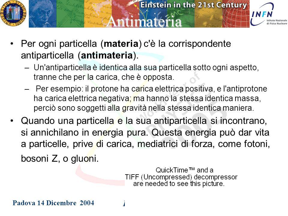 Padova 14 Dicembre 2004 Patrizia Azzi Negli anni '90, i dati raccolti al LEP studiando il decadimento del bosone Z, ci permettono di determinare con grande precisione il numero di neutrini (e quindi il numero di generazioni) e di escludere con certezza la presenza di neutrini anomali .