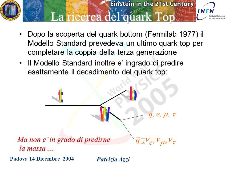 Padova 14 Dicembre 2004 Patrizia Azzi la scoperta del quark top Vediamo un analisi da vicino, passo per passo sbirciando i quaderni ed i pensieri di chi vi ha partecipato…
