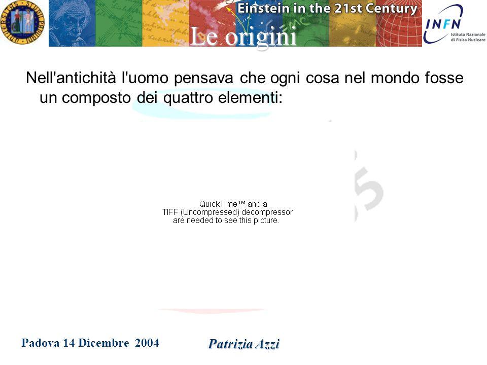 Padova 14 Dicembre 2004 Patrizia Azzi Di cosa e' fatto il mondo.