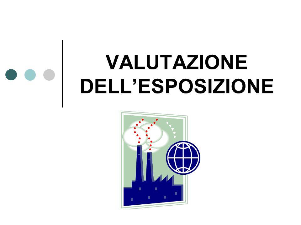 VALUTAZIONE DELL'ESPOSIZIONE