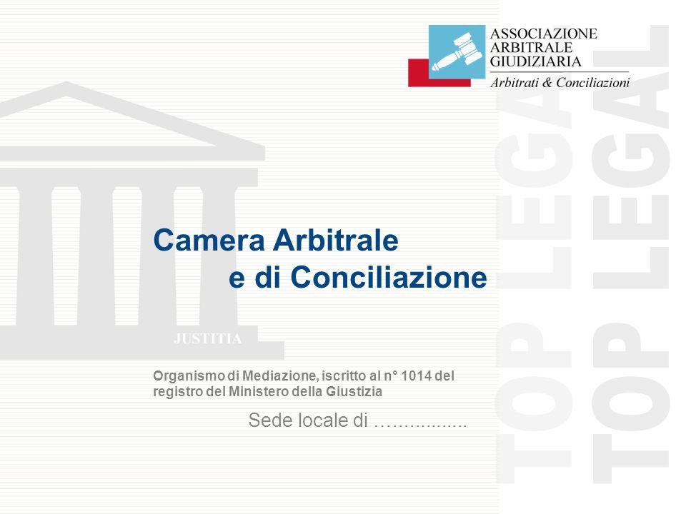 Camera Arbitrale e di Conciliazione Organismo di Mediazione, iscritto al n° 1014 del registro del Ministero della Giustizia Sede locale di …..............