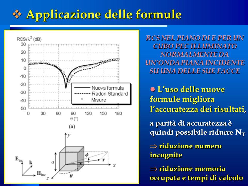 L'uso delle nuove formule migliora l'accuratezza dei risultati, L'uso delle nuove formule migliora l'accuratezza dei risultati, a parità di accuratezz