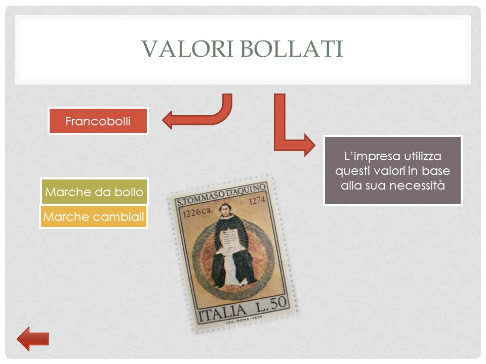 COSA SONO E COME SI ACQUISTANO I VALORI BOLLATI I valori bollati sono le marche o specie di francobolli che si applicano su tutti gli atti ufficiali, si acquistano da un tabaccaio o all ufficio postale.