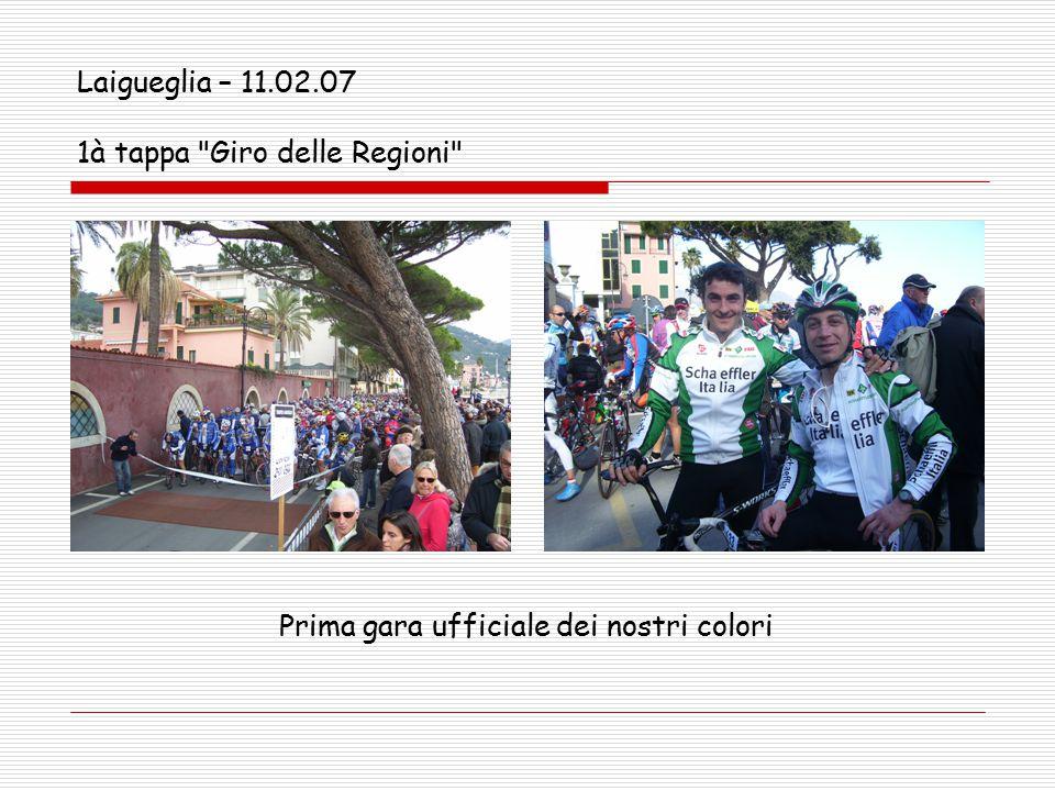 Laigueglia – 11.02.07 1à tappa Giro delle Regioni Prima gara ufficiale dei nostri colori