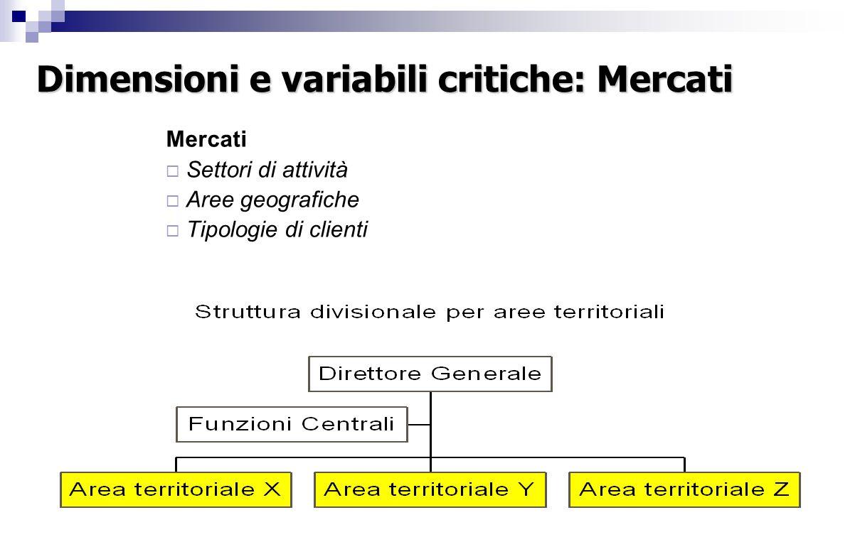 Dimensioni e variabili critiche: Processi operativi Processi Operativi  Presidi territoriali  Fasi